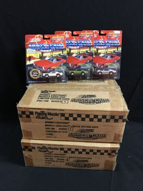 Lot 030 2 Boxes Of  Various Johnny Lightning Cars