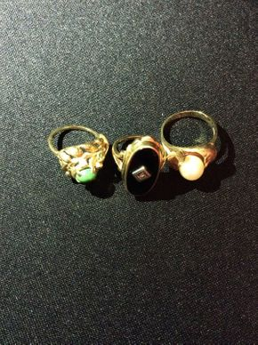 Lot 016 Lot of 3 Gold Rings  ITEM CAN BE PICKED UP IN ROCKVILLE CENTRE