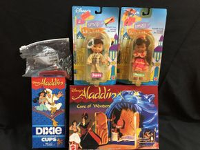 Lot 036 Assorted Disney Figures and Aladdin Cups