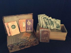 Lot 036 Lot of Various Handmade Boxing Cards and Exhibit Cards ITEM CAN BE PICKED UP IN ROCKVILLE CENTRE