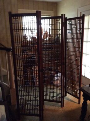 Lot 037 Asian Wood Screen ITEM CAN BE PICKED UP IN ROCKVILLE CENTRE
