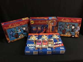 Lot 065 Aladdin Play set, Dixie Cups and Klenex Tissues