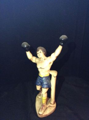 Lot 056 1979 Signed Rocky Balboa Sculpture     ITEM CAN BE PICKED UP IN ROCKVILLE CENTRE