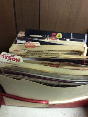 Lot 061 Organized Publication  Clippings on Mike Tyson  ITEM CAN BE PICKED UP IN ROCKVILLE CENTRE