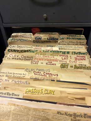 Lot 065 Organized Publication  Clippings on Cassius Clay Ali  ITEM CAN BE PICKED UP IN ROCKVILLE CENTRE