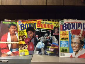 Lot 076 Various Boxing Magazines  ITEM CAN BE PICKED UP IN ROCKVILLE CENTRE