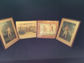 Lot 083 Lot of Framed Boxing Prints and Plates   ITEM CAN BE PICKED UP IN ROCKVILLE CENTRE