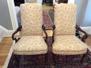 Lot 001 Pair of Upholstered Chairs ITEM CAN BE PICKED UP IN GARDEN CITY