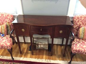 Lot 025 Baker Mahogany Buffet  ITEM CAN BE PICKED UP IN GARDEN CITY