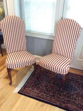 Lot 031 Pair of Custom Upholstered Chairs    ITEM CAN BE PICKED UP IN GARDEN CITY