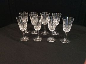 Lot 019 Lot of 8 Baccarat Cordial Glasses    ITEM CAN BE PICKED UP IN GARDEN CITY