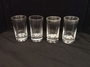Lot 024 Lot of 4 Simon Pearce Water ITEM CAN BE PICKED UP IN GARDEN CITY