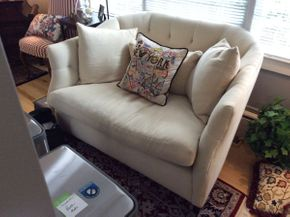 Lot 040 Cisco Brothers Harmony Collection Upholstered Loveseat   ITEM CAN BE PICKED UP IN GARDEN CITY