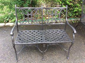 Lot 044 Aluminum Outdoor Bench  ITEM CAN BE PICKED UP IN GARDEN CITY