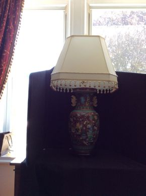 Lot 063 Vase Converted To Lamps From Mainland China  ITEM CAN BE PICKED UP IN GARDEN CITY