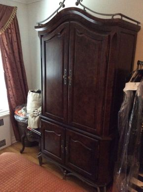 Lot 051 Decorative 2 Piece Armoire   ITEM CAN BE PICKED UP IN GARDEN CITY