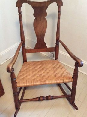 Lot 001 Antique Cherry Nursing Rocker Circa 1800 ITEM CAN BE PICKED UP IN OCEANSIDE