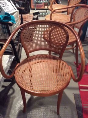 Lot 002 Lot of 4 Thonet Canned Chairs ITEM CAN BE PICKED UP IN OCEANSIDE