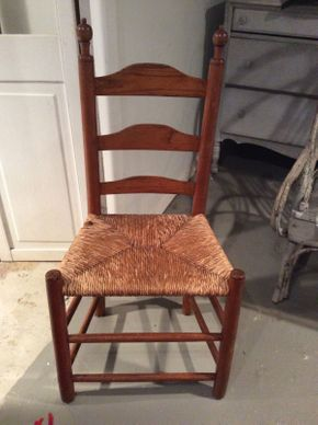 Lot 003 Antique Wood and Wicker Chair Circa 1800 ITEM CAN BE PICKED UP IN OCEANSIDE