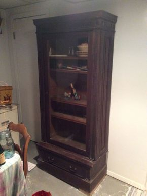 Lot 011 Antique Mahogany Book Case with Key ITEM CAN BE PICKED UP IN OCEANSIDE