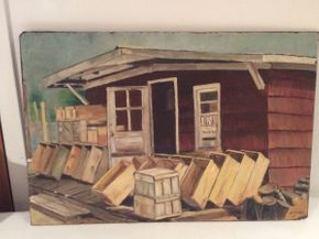 Lot 008 Oil on Board Signed J.K. Russo ITEM CAN BE PICKED UP IN OCEANSIDE