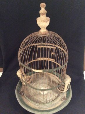 Lot 010 Antique Metal Birdcage ITEM CAN BE PICKED UP IN OCEANSIDE