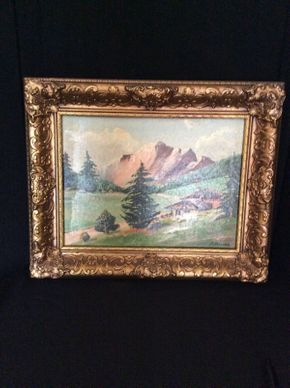 Lot 017 F. Kuller Signed Oil on Canvas Board ITEM CAN BE PICKED UP IN GLEN HEAD
