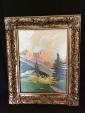 Lot 018 F. Kuller Signed Oil on Canvas Board  ITEM CAN BE PICKED UP IN GLEN HEAD
