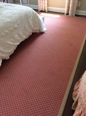 Lot 003 Pink And Cream Stark Carpet 8 Feet 9 inches x 11 Feet