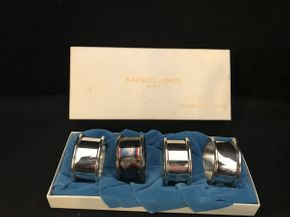 Lot 017 Lot of 4 F.B.Rogers Silver Company Napkin Rings