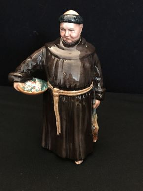Lot 027 Royal Doulton The Jovial Monk Figurine 8in
