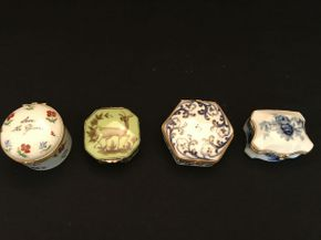 Lot 032 Lot of 4 Assorted Trinket Boxes