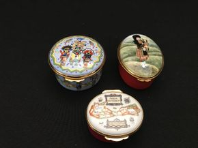Lot 035 Lot of 3 Assorted Trinket Boxes