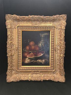 Lot 039 Framed Van Hoot Oil 18.5x16