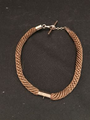Lot 043 Morning Watch Chain Rose Gold Clasp Karate Unknown Human Hair  12in
