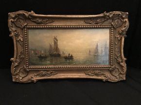 Lot 048 Adolphus Knell Vintage Sailboat Oil 14x19