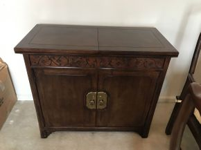 Lot 056 Henredon Buffet Table 38x18x34 Opens to 76in