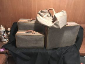 Lot 062 Lot of 4 Hartmann Luggage Large 26x20x8 Med 25x20x8 Small 21x12x7.5 CarryOn 20