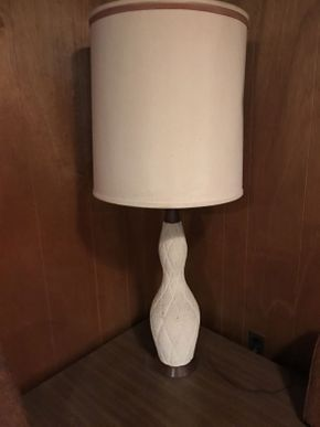 Lot 070 Mid Century Pottery Lamp 45x17
