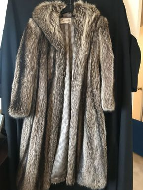 Lot 075 Brown/Black Strathmore Raccoon Coat
