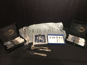 Lot 017 Lot of Sterling Silver and Various Serving Items