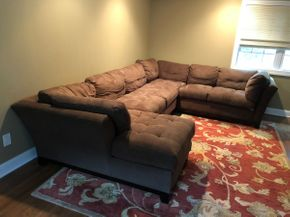 Lot 047 Three Piece Sectional Couch PICKUP IN DIX HILLS
