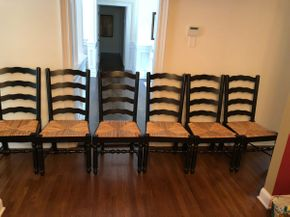 Lot 052 Lot of Six Ladder Chairs PICKUP IN DIX HILLS