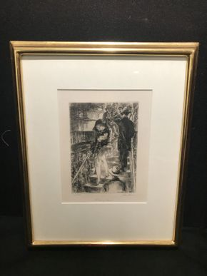 Lot 024 John Sloan Subway Stairs 13x16