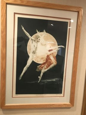 Lot 028 Lithograph By GH Rothe Moondance II 26.5x36