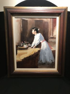 Lot 031 Framed Oil by Charles Apt 23.5x27