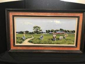 Lot 032 Framed Oil by Charles Apt 36x20