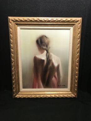 Lot 036 Framed Oil on Canvas by Hal Singer