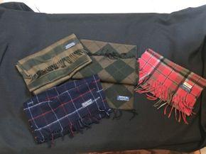 Lot 049 Lot of 4 Vintage Burberry Scarves