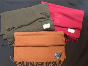 Lot 050 Lot of 3 Vintage Burberry Scarves